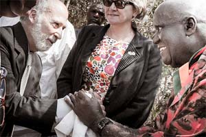 Lou D'Amore and Kenneth Kaunda, IIPT Peace Park Dedication