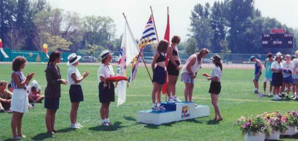 Brenda accepting medal