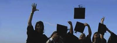 LIUTEBM throwing graduation hats