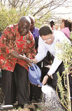 Kenneth Kaunda and Taleb Rifai