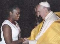 Pope Francis and Rachelle