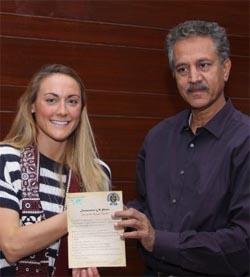Cassie visiting Pakistan mayor
