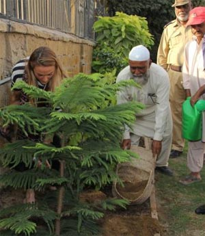Cassie tree planting in Pakistan