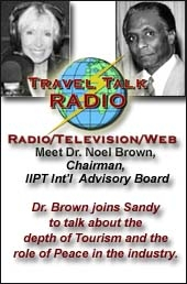 Sandy Dhuyvetter interviews Louis D'Amore on Travel Talk Radio